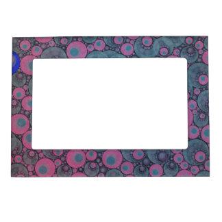 Extracto azul rosado marcos magnéticos para fotos