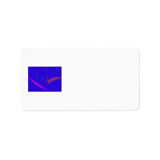 Extracto azul simple con la reducción radical de c etiqueta de dirección