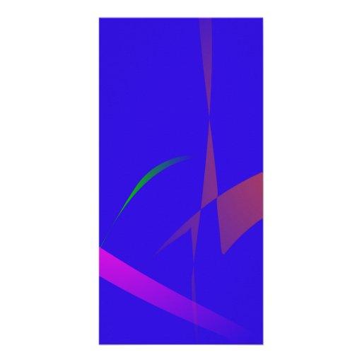 Extracto azul simple con la reducción radical de c tarjeta con foto personalizada