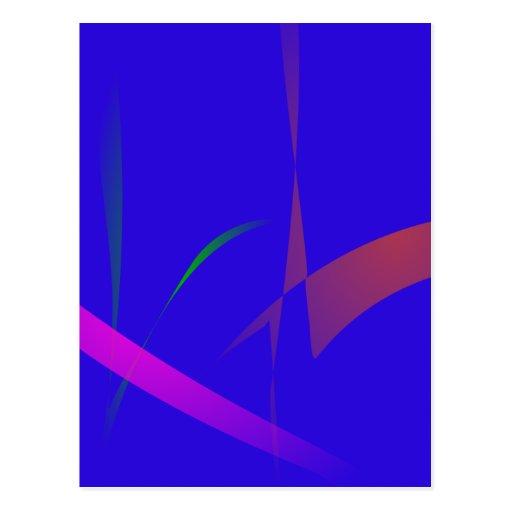 Extracto azul simple con la reducción radical de c postal