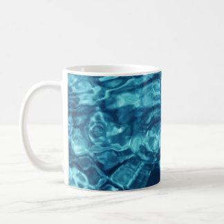 Extracto azul taza básica blanca