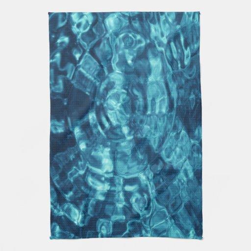 Extracto azul toallas de mano