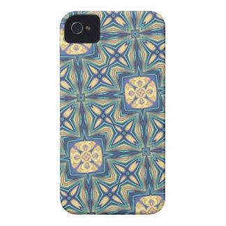 Extracto azul y beige iPhone 4 protector