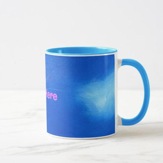 Extracto azul y blanco taza