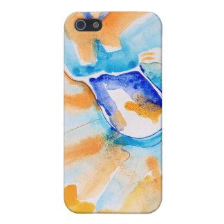Extracto azul y del naranja iPhone 5 funda