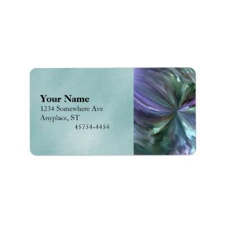 Extracto azul y púrpura del movimiento del cepillo etiquetas de dirección