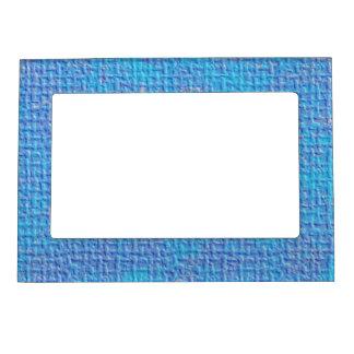 Extracto azul y púrpura texturizado marcos magnéticos de fotos