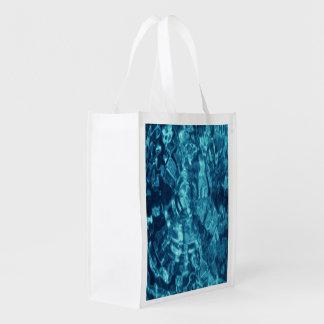 Extracto azul bolsas de la compra