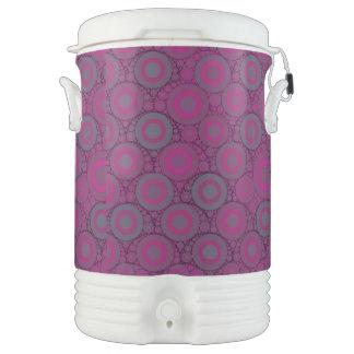 Extracto azulado rosado fluorescente del círculo refrigerador de bebida igloo