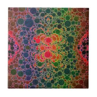 Extracto azulverde anaranjado azulejo cuadrado pequeño