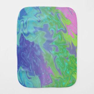 Extracto azulverde colorido del chapoteo paños para bebé