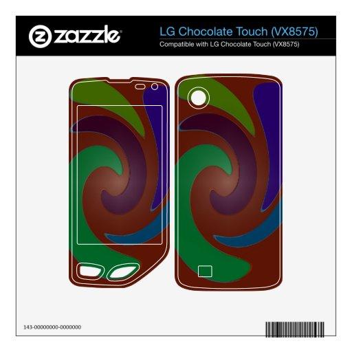 Extracto azulverde marrón colorido del remolino LG chocolate touch skin