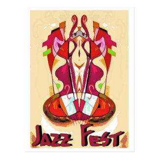 Extracto Bass1 del Fest del jazz Tarjeta Postal
