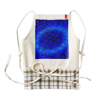 Extracto binario azul de neón delantal zazzle HEART