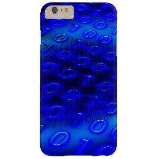 Extracto binario azul de neón funda de iPhone 6 plus barely there