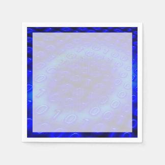 Extracto binario azul de neón servilleta de papel