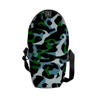 Extracto blanco del guepardo del verde azul bolsa de mensajeria