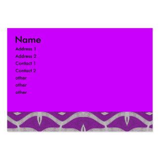 extracto blanco púrpura del modelo tarjetas de visita grandes