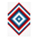 Extracto blanco y azul rojo de encargo papelería