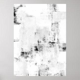 """Extracto blanco y negro AR de las """"nevadas"""" Póster"""