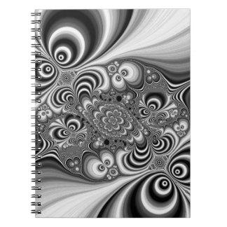 Extracto blanco y negro con los círculos libretas