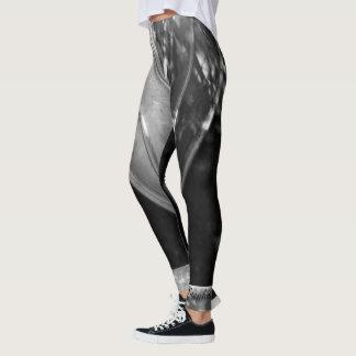 Extracto blanco y negro con nombre personalizado leggings