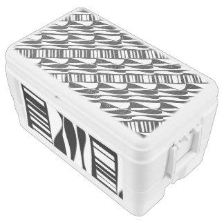 Extracto blanco y negro refrigerador de 48 cuartos cofre nevera
