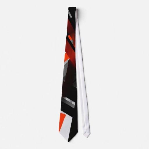 Extracto blanco y negro rojo corbatas