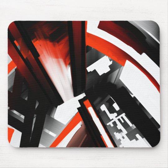 Extracto blanco y negro rojo mousepads