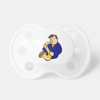 extracto blue.png del hombre del jugador de saxofó chupetes para bebes