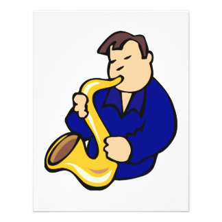 extracto blue png del hombre del jugador de saxofó comunicado personalizado