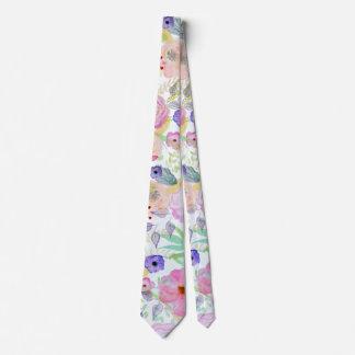 Extracto bonito de la pintura de la mano de la corbatas personalizadas