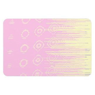 Extracto bonito en pálido - rosa y amarillo iman rectangular