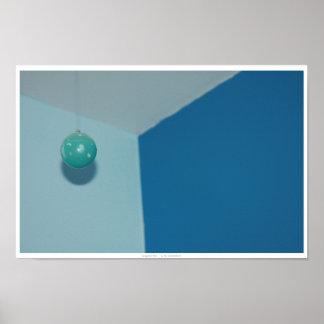 Extracto brillante de la bola del trullo póster