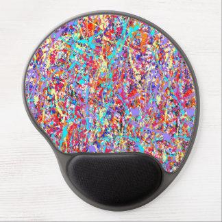 Extracto brillante de la salpicadura de la pintura alfombrillas de ratón con gel
