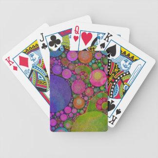 Extracto brillante del color fluorescente baraja cartas de poker