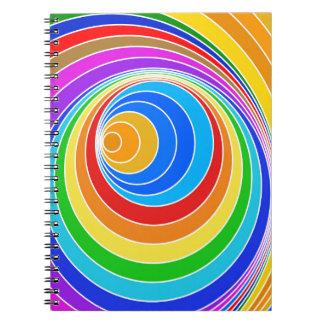 Extracto brillante del vórtice espiral libretas
