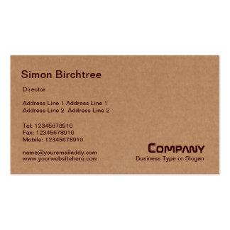 Extracto - caja de cartón tarjetas de visita