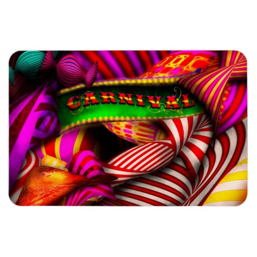 Extracto - carnaval rectangle magnet