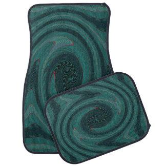 Extracto circular verde del trullo alfombrilla de auto