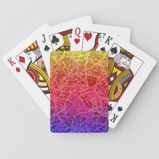 Extracto clásico del arte de Informel de los naipe Cartas De Póquer
