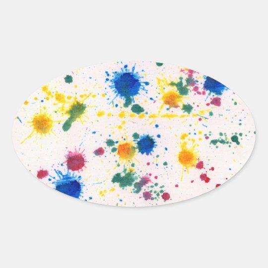 Extracto - color de Gesso y de comida - mi nueva Pegatina Ovalada