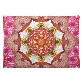 Extracto color de rosa rosado brillante mantel individual