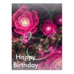 Extracto color de rosa rosado postales
