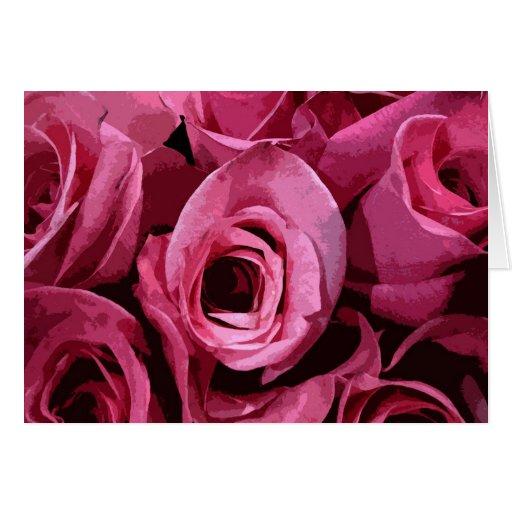 Extracto color de rosa tarjeta de felicitación