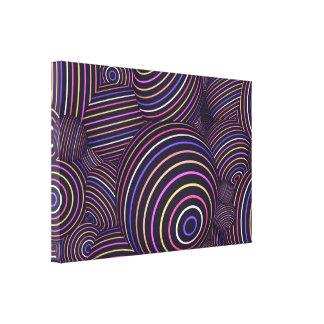Extracto coloreado arco iris hipnótico de las lienzo envuelto para galerías