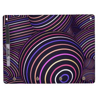 Extracto coloreado arco iris hipnótico de las pizarra