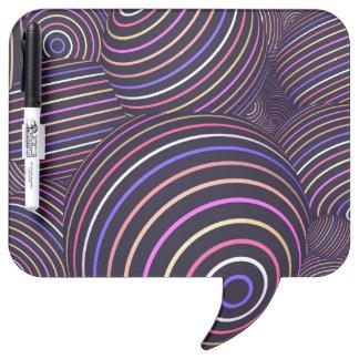 Extracto coloreado arco iris hipnótico de las pizarras blancas de calidad
