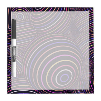 Extracto coloreado arco iris hipnótico de las tablero blanco