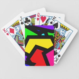 Extracto coloreado de Pentágono Baraja Cartas De Poker